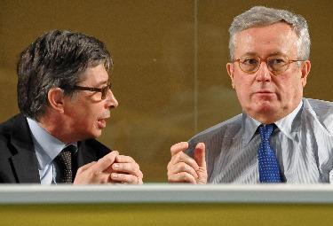 Vasco Errani e Giulio Tremonti (Foto: Imagoeconomica)