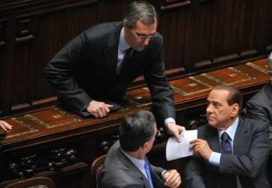 Niccolò Ghedini e Silvio Berlusconi (Imagoeconomica)