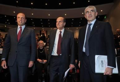 Alfano, Bersani e Monti (Imagoeconomica)