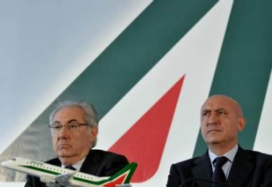 Roberto Colaninno e Rocco Sabelli (Foto Imagoeconomica)