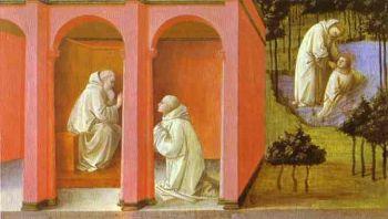 Il miracolo di san Mauro che cammina sulle acque in un affresco di Filippo Lippi