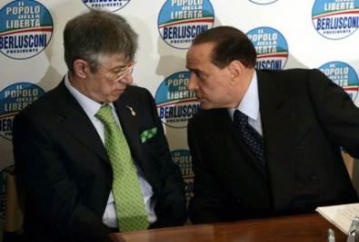 Umberto Bossi e Silvio Berlusconi (Imagoeconomica)