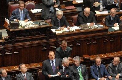 Il premier, Silvio Berlusconi, riferisce alla Camera sulla crisi economica (Imagoeconomica)