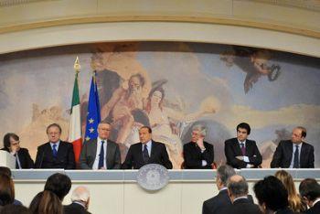 La conferenza stampa di ieri, dopo il Cdm (Imagoeconomica)