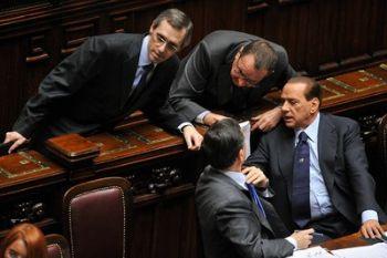 Silvio Berlusconi discute alla Camera (Imagoeconomica)