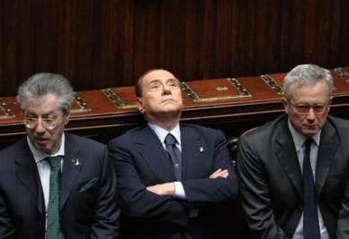 Bossi, Berlusconi e Tremonti (Imagoeconomica)