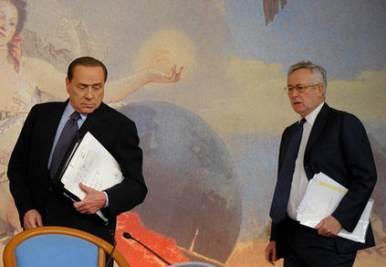 Silvio Berlusconi e Giulio Tremonti (Imagoeconomica)