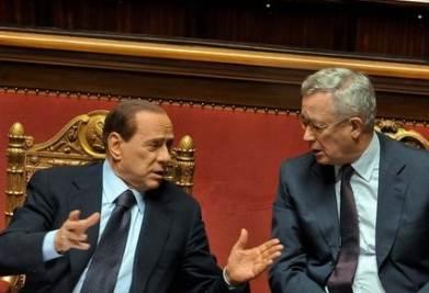 Berlusconi e Tremonti alla Camera (Imagoeconomica)