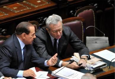 Tremonti e Berlusconi (Imagoeconomica)