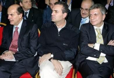 Pier Luigi Bersani, Luigi De Magistris e Nichi Vendola (Imagoeconomica)