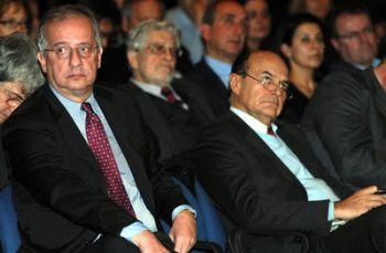 Walter Veltroni e Pier Luigi Bersani (Imagoeconomica)