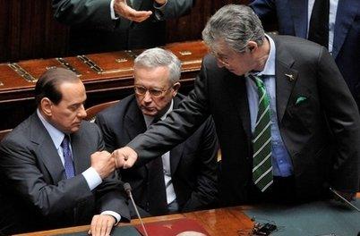 Bossi e Berlusconi (Imagoeconomica)