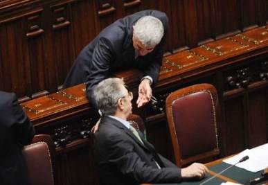 Bossi e Casini (Imagoeconomica)