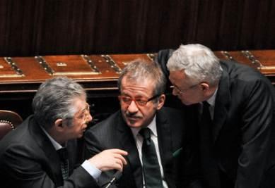 Bossi, Maroni e Tremonti (Imagoeconomica)