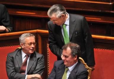 Bossi-Berlusconi, il nodo pensioni (Imagoeconomica)