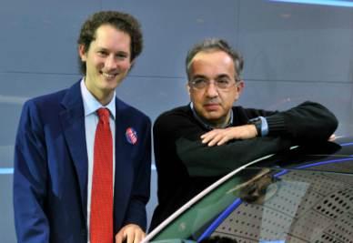 John Elkann e Sergio Marchionne (Foto Imagoeconomica)