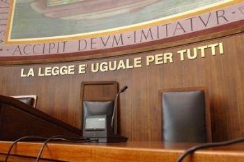 Un'aula di Tribunale (Foto Imagoeconomica)