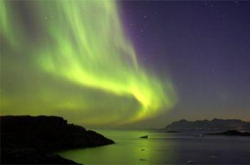 Aurora boreale in Groenlandia