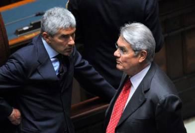 Calogero Mannino e Pier Ferdinando Casini (Imagoeconomica)