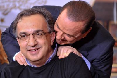 Berlusconi e Merchionne (Imagoeconomica)