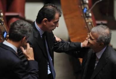 Marco Milanese e Fabrizio Cicchitto alla Camera (Imagoeconomica)
