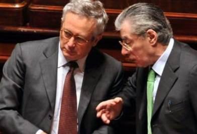Giulio Tremonti e Umberto Bossi (Foto Imagoeconomica)