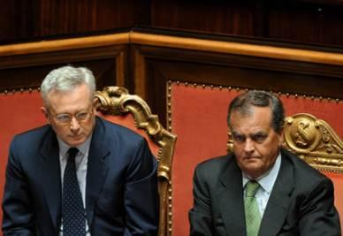 Tremonti e Calderoli (Imagoeconomica)