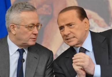 Giulio Tremonti e Silvio Berlusconi (Imagoeconomica)