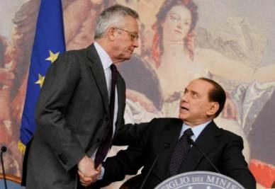 Giulio Tremonti e Silvio Berlusconi (Foto Imagoeconomica)