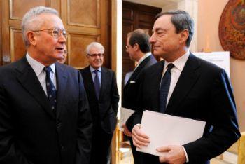 Giulio Tremonti e Mario Draghi (Foto Imagoeconomica)