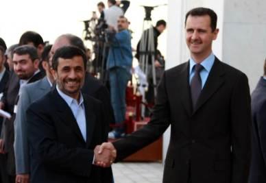 Bashar Assad con Mahmoud Ahmadinejad