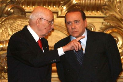 Silvio Berlusconi con il Capo dello Stato