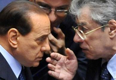 Silvio  Berlusconi e Umberto Bossi (Imagoeconomica)