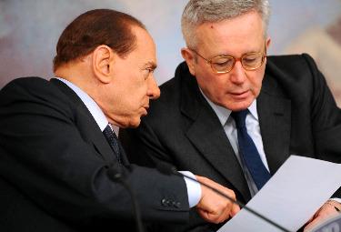 Silvio Berlusconi e Giulio Tremonti (Foto Imagoeconomica)