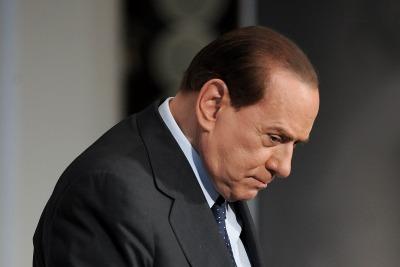 Silvio Berlusconi vede nero (Imagoeconomica)