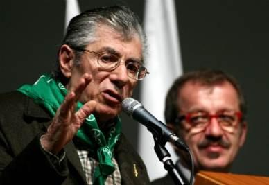 Umberto Bossi e Roberto Maroni (Imagoeconomica)