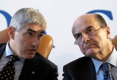 Pierferdinando Casini e Pierluigi Bersani (Imagoeconomica)
