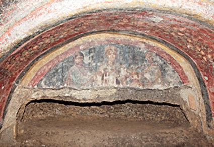 L'interno delle catacombe