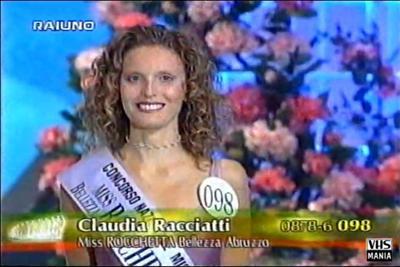 Claudia Racciatti quando partecipò a Miss Italia 1999