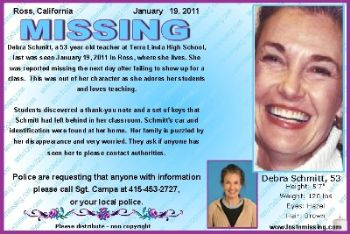 Debra Schmitt, la donna scomparsa in California