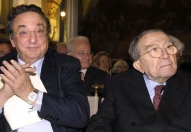 Gianni De Michelis e Giulio Andreotti (Imagoeconomica)