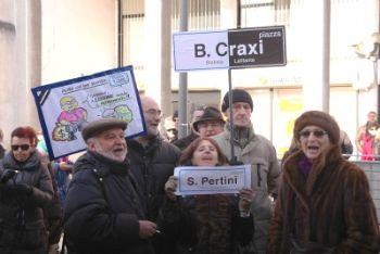 Manifestazioni a Lissone contro Piazza Craxi