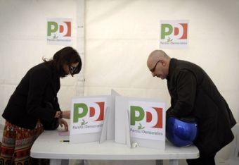 Un seggio per le primarie del Pd