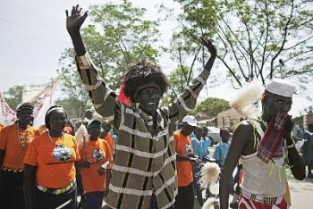 I festeggiamenti pe rl'indipendenza dle SudSudan