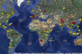 Una immagine dei cataclismi che avvengono sulla Terra in tempo reale