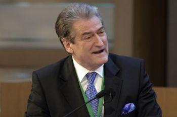 Il premier albanese Sali Berisha (Imagoeconomica)