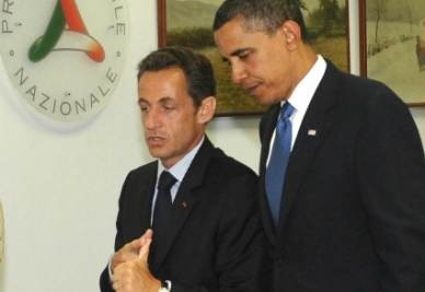 Nicolas Sarkozy e Barack Obama (Imagoeconomica)