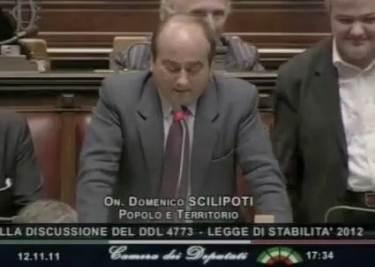 L'intervento di Scilipoti alla Camera (Imagoeconomica)