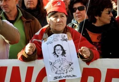Cgil Flc in sciopero (Imagoeconomica)
