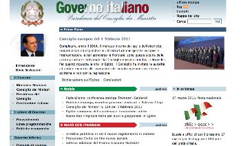 Il sito del governo